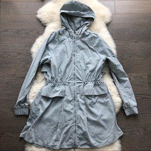 Lululemon Gray Mid-Length Wind-Breaker Jacket